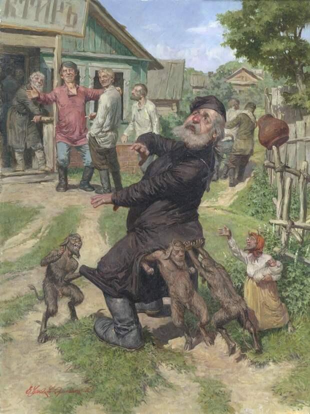 Смеяться разрешается! Забавные сюжеты на картинах Владимира Чумакова-Орлеанского