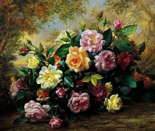 Художник Albert Williams (1922 – 2010). Цветы цветут для тех, кто их видит