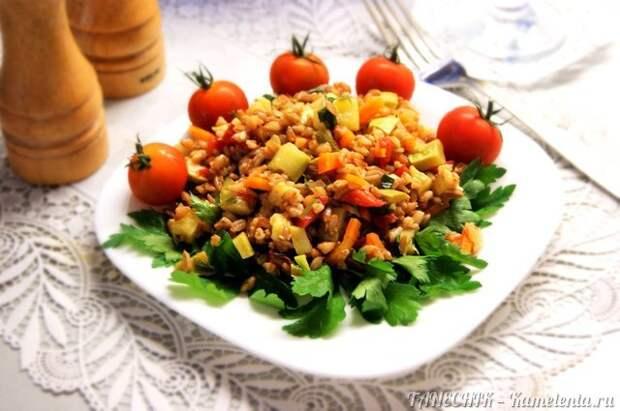 Рецепт полбы с овощами