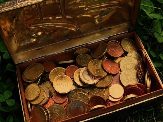 Сокровища, Сундук С Сокровищами, Евро, Монеты, Деньги