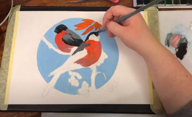 Уроки рисования сняли на видео в досуговом центре «Юго-Восток»