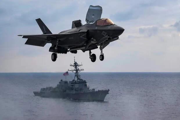 Вертикальная посадка F-35: редкое видео