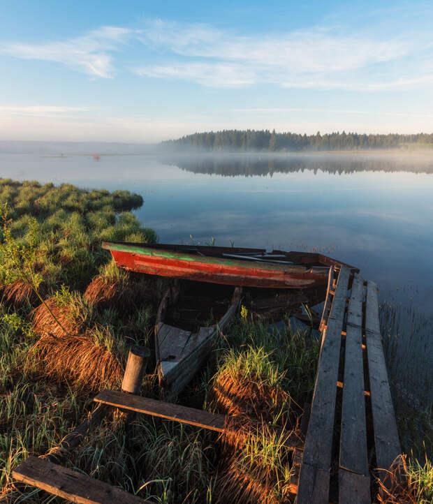 Рассвет на реке Песчанка