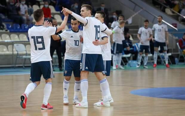 Россия обыграла Грузию в последнем туре отбора к Евро-2022 по мини-футболу, одержав 6-ю победу в 6 матчах