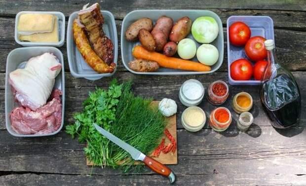 Ингредиенты, которые понадобятся для приготовления: блюдо, в казане, видео, еда, рецепт, фото, фоторецепт