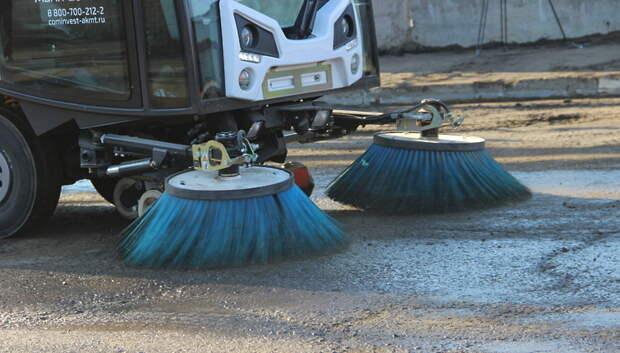 Более 600 км дорог обработали и очистили в Подмосковье