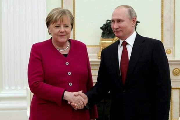 Эксперт объяснил напряжённые отношения Путина и Меркель