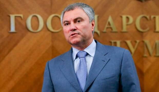 Володин поручил пригласить Решетникова в Госдуму