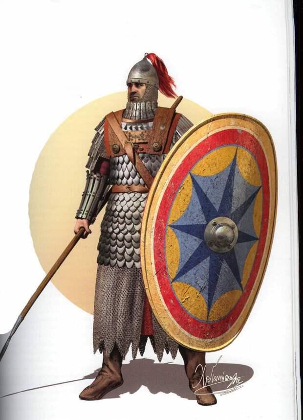 Византийский солдат в полный рост