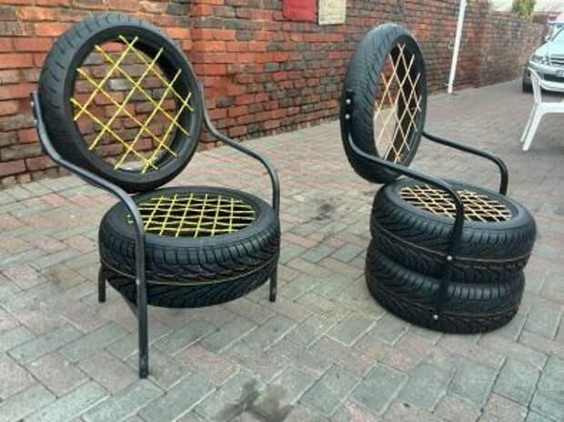 Кресла из автошин