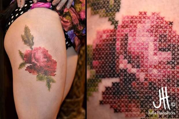 вышивка крестиком татуировка тату