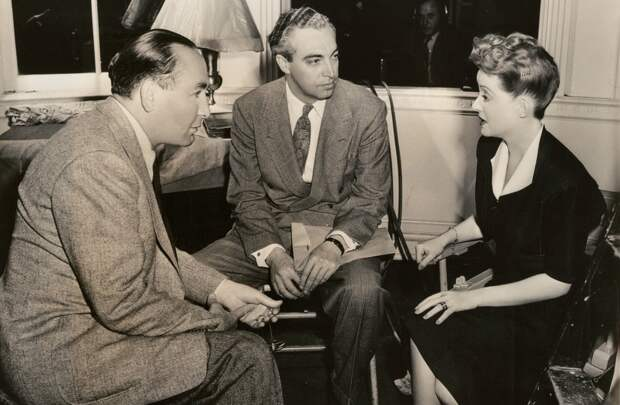 irector Irving Rapper and Bette Davis on the set of Now, Voyager, 1942. Photo by Bert Longworth.jpeg