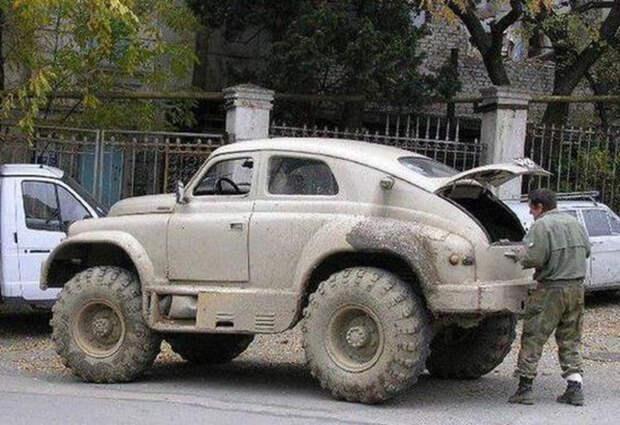 Крымский лесничий сделал себе «Победу» с агрегатами от ГАЗ-66 и трактора