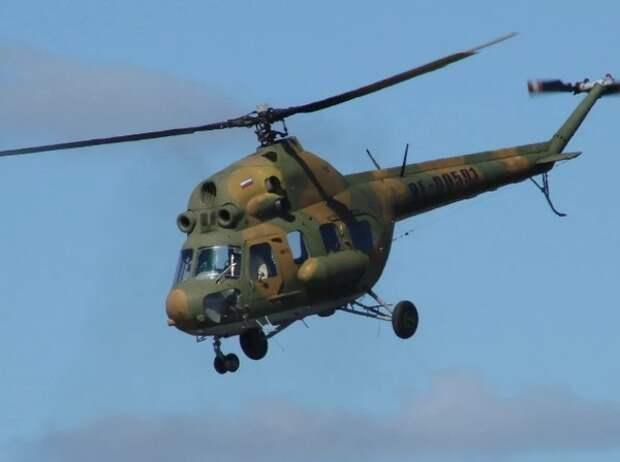 Украинский Ми-2 разбился при посадке