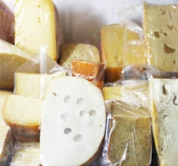 Замороженный сыр.   Фото: BBC.