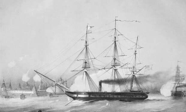А. Мюнстер. Бомбардирование Соловецкого монастыря двумя британскими пароходами в 1854 году