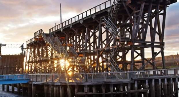 В Гейтсхеде сгорела промышленная деревянная достопримечательность: подозревают поджог