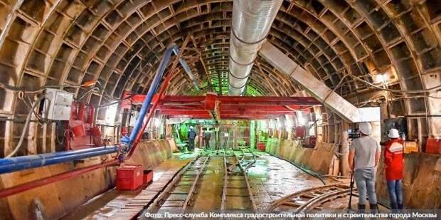 Собянин заявил об окончании строительства метро глубокого заложения Фото: Пресс-служба Комплекса градостроительной политики и строительства города Москвы