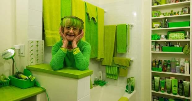 Зеленый образ жизни: эксцентричная леди из Бруклина вот уже 20 лет окружает себя исключительно оттенками зеленого