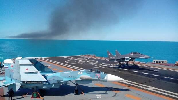 Авария Миг-29К близ Тартуса