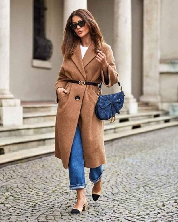 Коричневое пальто – с чем носить: советы стилистов