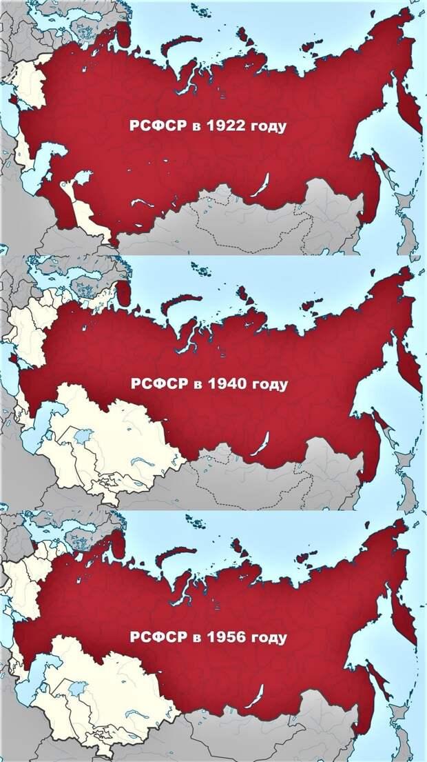 Дерибан России в СССР наглядно