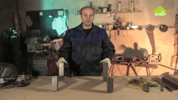 Как сварить ломаный косоур из профильной трубы