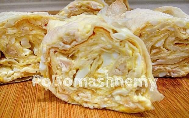 Закуска из лаваша с сыром, яйцами и курицей Видео рецепт, Лаваш, Закуски из лаваша, Рулетики из лаваша, Лаваш рецепты, Видео, Длиннопост
