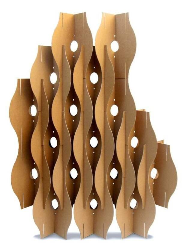 Модульные перегородки из картона (подборка)