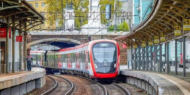 Собянин отметил темпы развития железнодорожной инфраструктуры в Москве. Фото: М. Денисов mos.ru