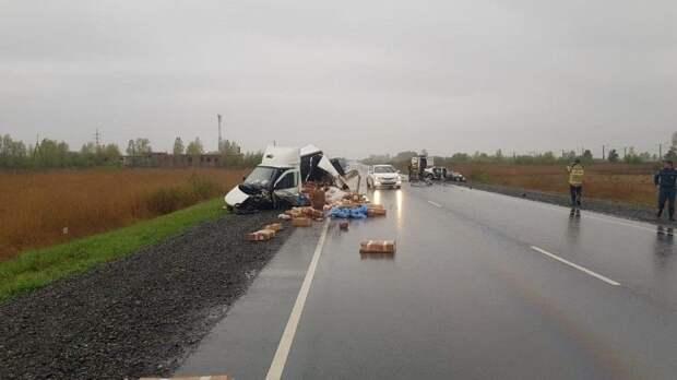 Пятеро погибли при столкновении легковушки ифургона под Красноярском— фото