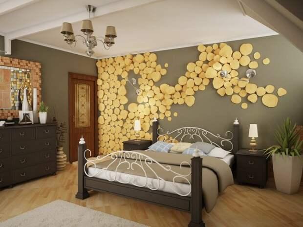 Спилы в интерьере дома. \ Фото: decorwind.ru.