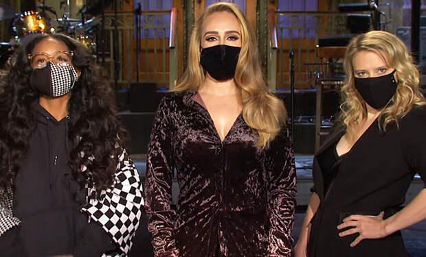 Адель продемонстрировала стройную фигуру в промо-ролике шоу Saturday Night Live