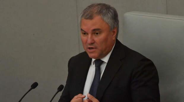 Вячеслав Володин предложил Западу заняться своими проблемами