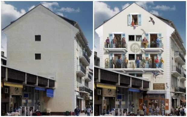 Увидев некрасивые здания, у него возникла гениальная мысль…Теперь весь мир говорит о нем