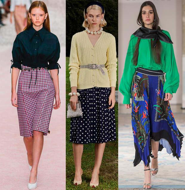 Модные юбки - лето 2019 года