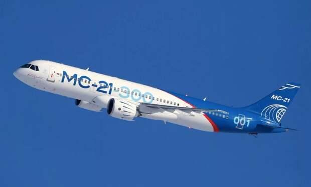 Первый собранный самолет МС-21-300 совершил 180 полетов из 300 испытательных