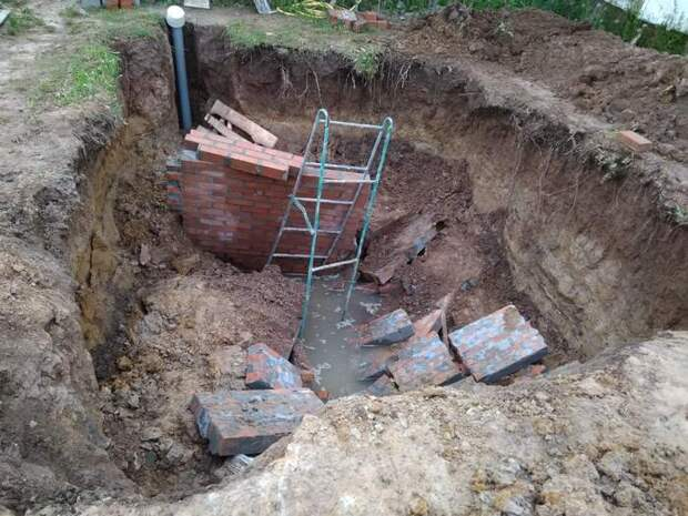 Х. евы строители, борьба со стихией, или как начиналась стройка нашего погреба. Часть 1я Дача, Своими руками, Видео, Длиннопост