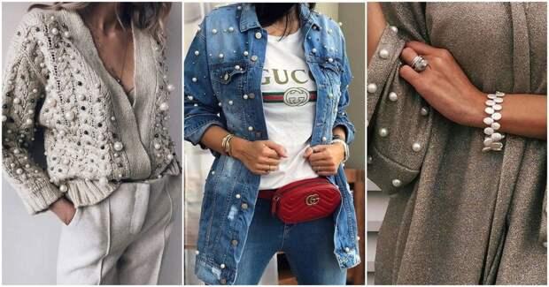 Восхитительная вышивка жемчугом: 17 идей декора одежды