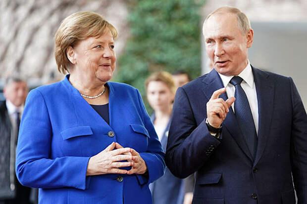 Путин и Меркель обсудили Украину и Минские соглашения