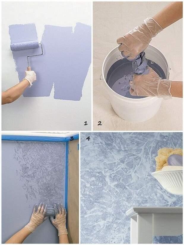Обновляем интерьер: красим стены в доме при помощи подручных материалов