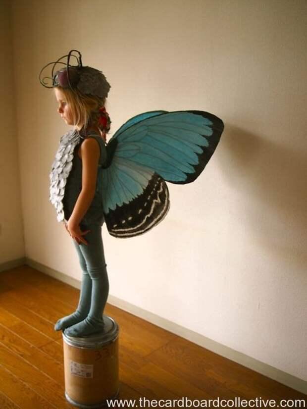 как сделать крылья бабочки костюм