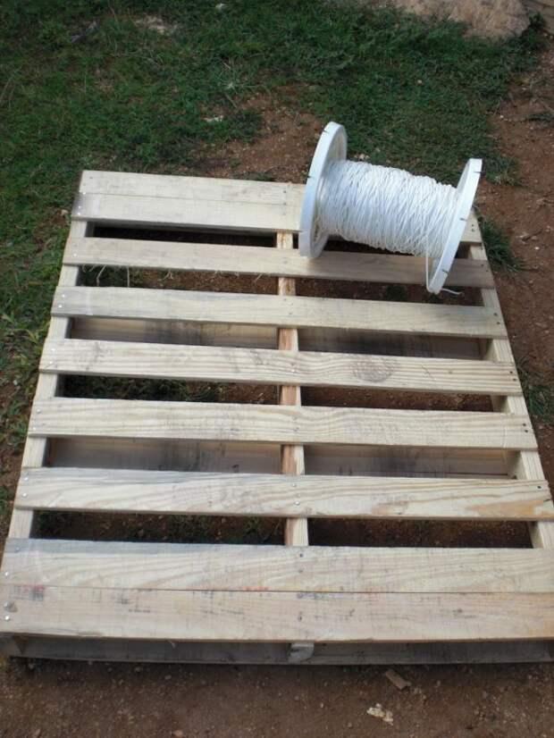 кресло-гамак из паллеты