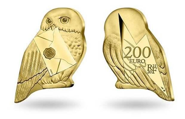 Сова Букля Гарри Поттера: героиня новой золотой коллекционной монеты Франции