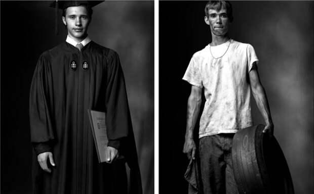 Выпускник колледжа и Отчисленный из средней школы. Автор фото: Марк Лайт (Mark Laita).
