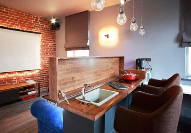 Очень красивый интерьер кухни, что станет просто открытием для декорировании комнаты такого типа.