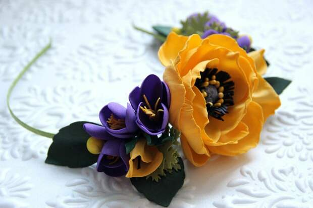 Весеннее вдохновение. Цветы из фоамирана