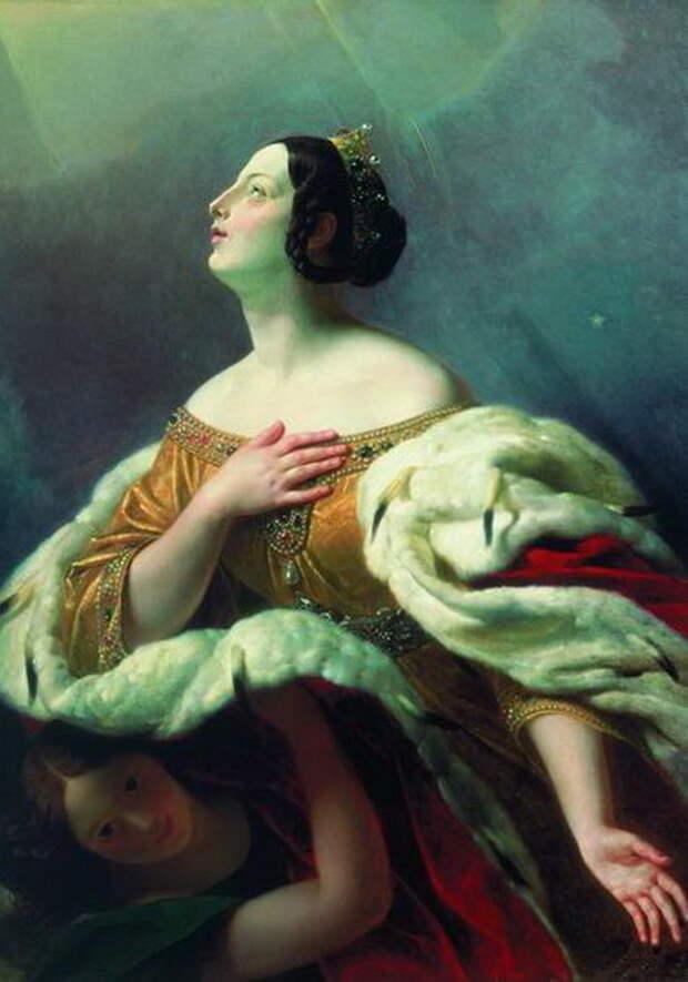 Карл Брюллов. Святая царица Александра, вознесенная на небо