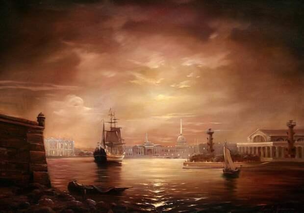 Стародавний Петербург в картинах Алексея Рычкова.