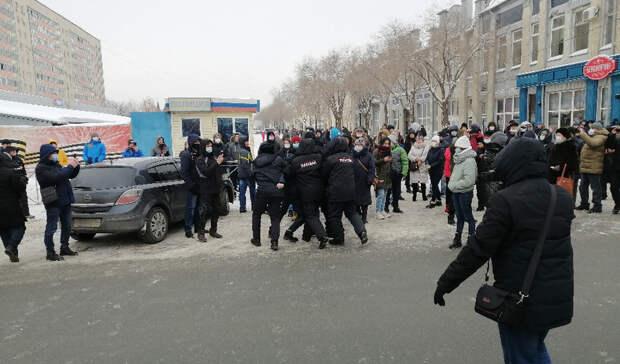 Несколько сотен человек приняли участие внесанкционированном митинге вОренбурге